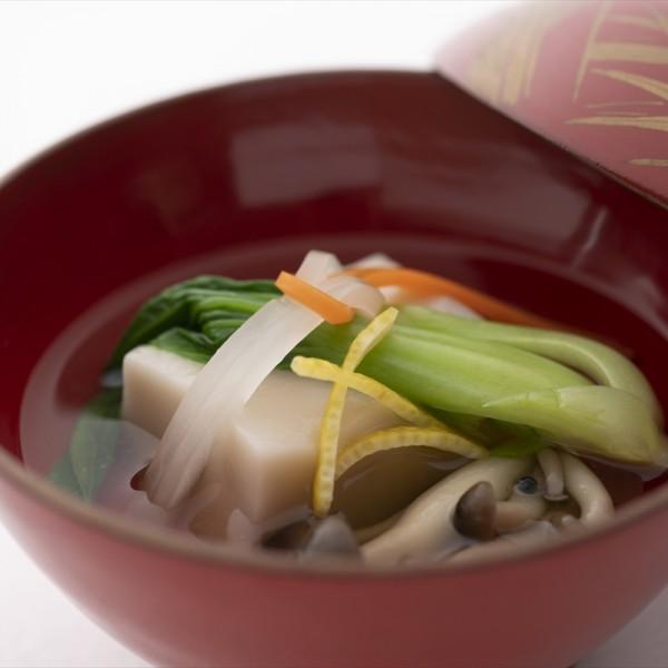 汁:胡麻豆腐の御吸い物